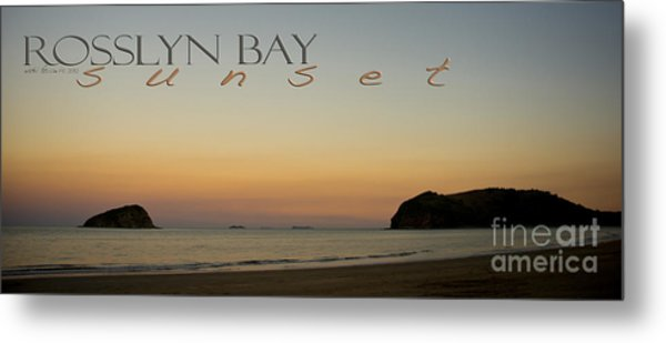 Metal Print featuring the photograph Rosslyn Bay Sunset by Vicki Ferrari