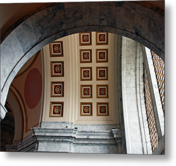 Rotunda Arches Metal Print