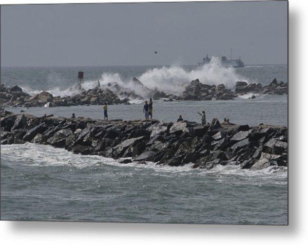 Rough Seas To Block Island Metal Print