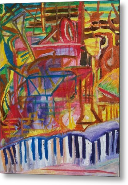 Routes Of Jazz Metal Print by James Christiansen