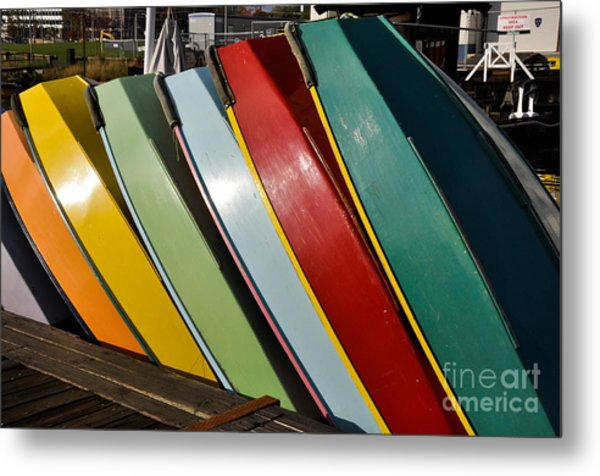 Row Of Boats Metal Print by Camille Lyver