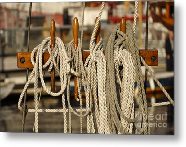 Row Of Ropes Metal Print by Camille Lyver