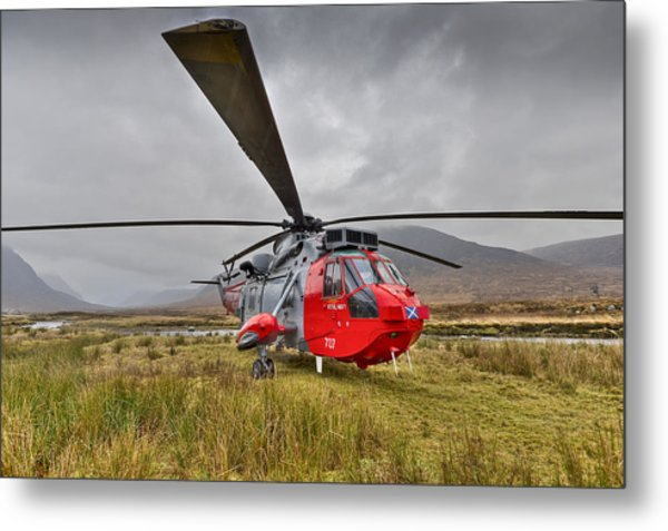 Royal Navy Sar Sea King Xz920 Glencoe Metal Print