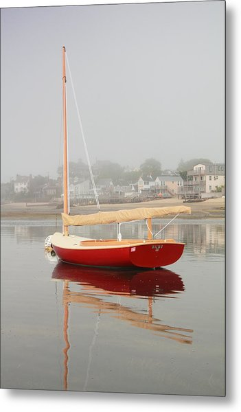 Ruby Red Catboat Metal Print