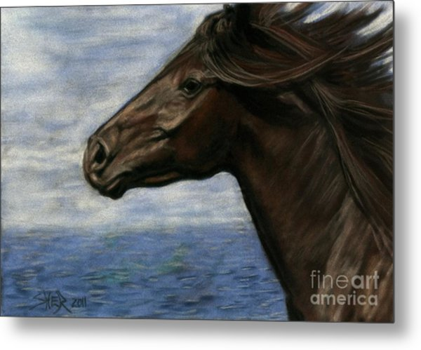 Metal Print featuring the painting Run Free by Sheri Gordon