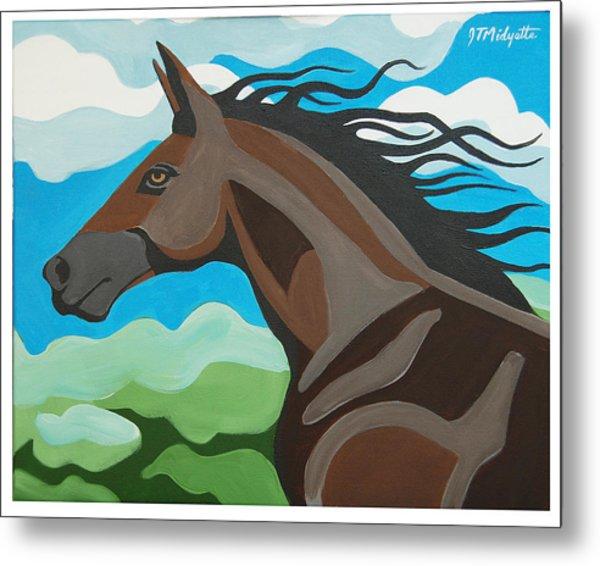 Running Horse Metal Print
