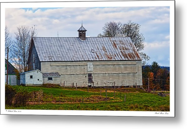 Rural Maine Farm Metal Print by Richard Bean