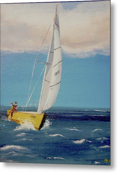 Rush To Shore Metal Print