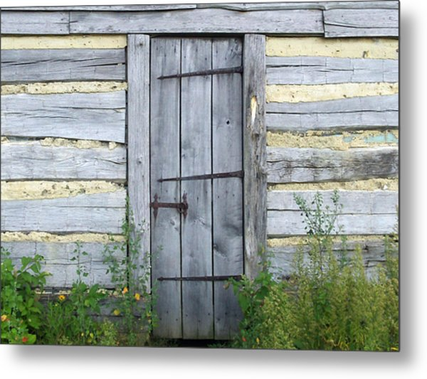 Rustic Door Metal Print