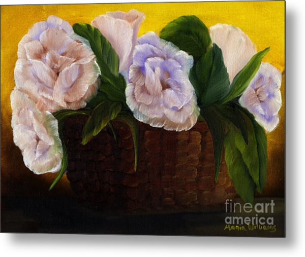 Rustic Roses Metal Print by Maria Williams