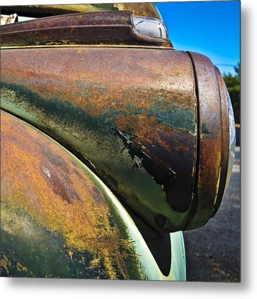 Rusty Dodge Lights Metal Print