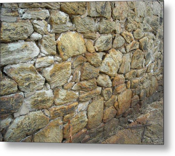 Rusty Stone Wall Metal Print