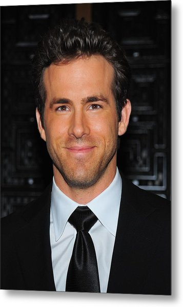 Ryan Reynolds At Arrivals For American Metal Print by Everett