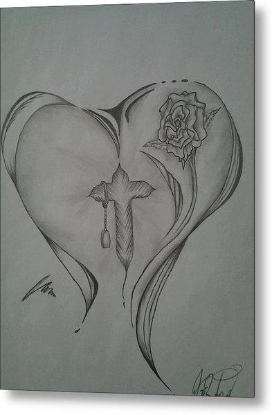 Sacred Heart Metal Print by Jason Rodriguez