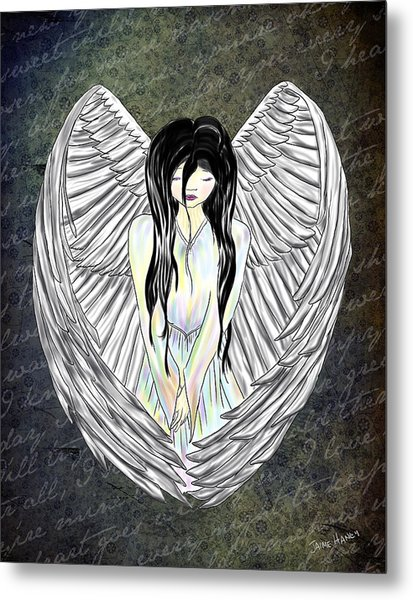 Sad Angel Metal Print