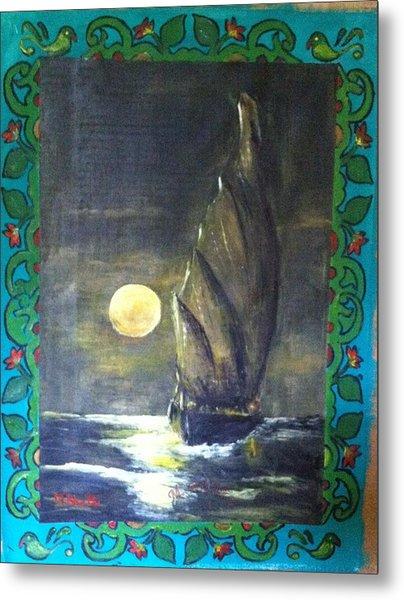 Sail At Night Metal Print by M Bhatt