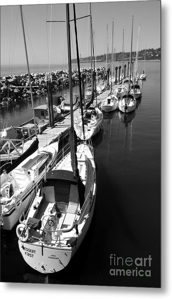 Sail Away Metal Print by Malu Couttolenc
