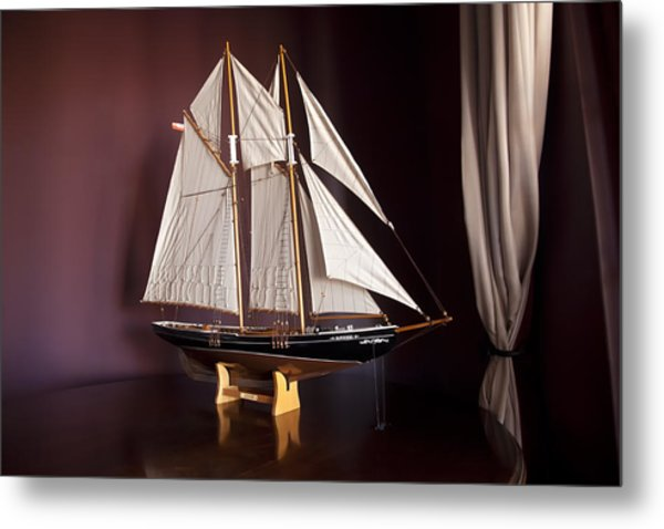 Sail Boat Metal Print by Miguel Capelo