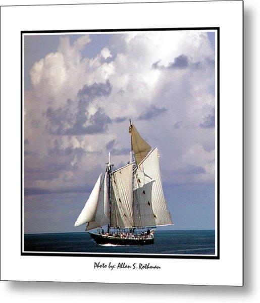 Sailboat Clouds Metal Print