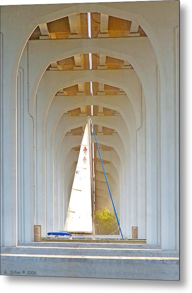 Metal Print featuring the photograph Sailboat Sanctuary by Grace Dillon