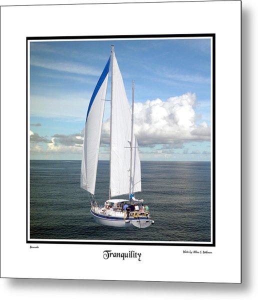 Sailboat Tranquility Metal Print