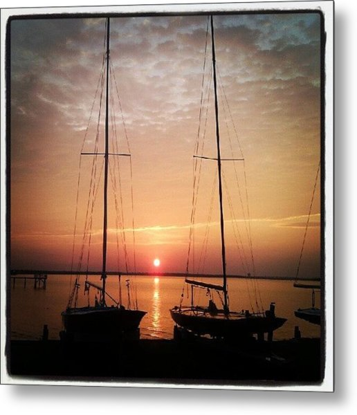 Sailboats In The Sunset Metal Print