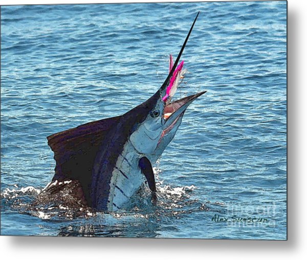 Sailfish Shake Metal Print