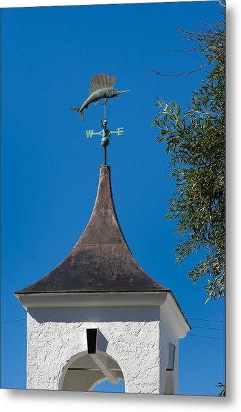 Sailfish Weather Vane At Palm Beach Shores Metal Print