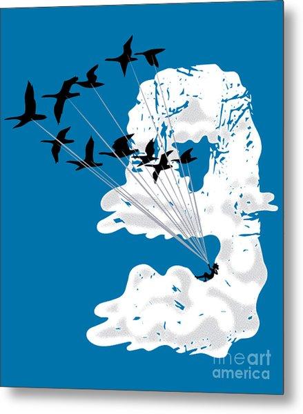Sailing Cloud Nine Metal Print