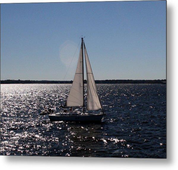Sailing On The Bay2 Metal Print