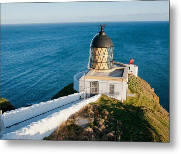 Saint Abb's Head Lighthouse And Foghorn Metal Print