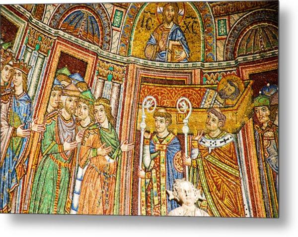 Saint Mark's Basilica Mosaic Metal Print by David Waldo