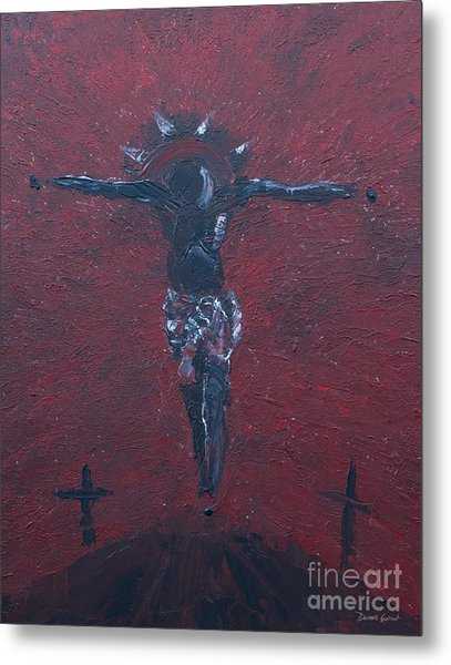 Metal Print featuring the painting Salvation by Dwayne Glapion