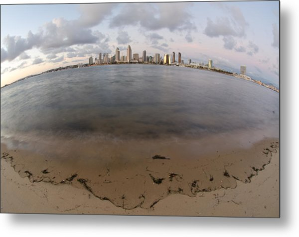 Metal Print featuring the photograph San Diego Bay by Margaret Pitcher