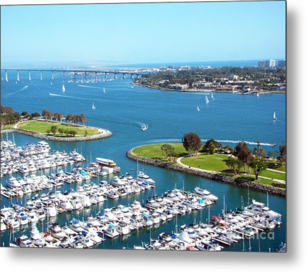 San Diego Marina And Bay Metal Print
