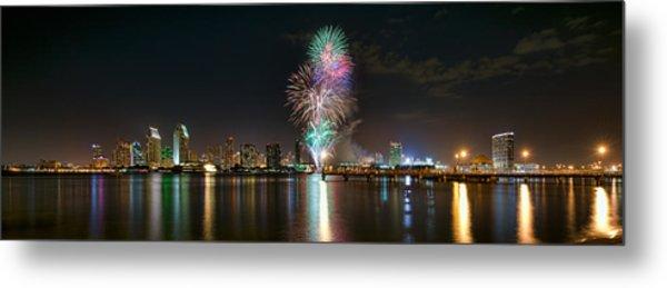 San Diego Summer Pops Fireworks 2012 Metal Print