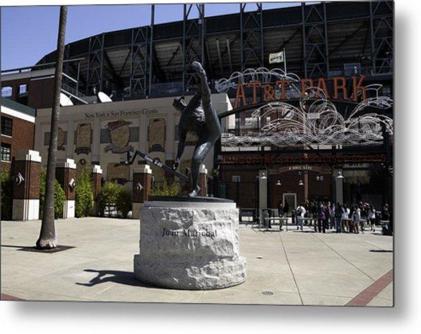 San Francisco Giants Ballpark  Statue Of Juan Marichal Metal Print