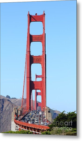 San Francisco Golden Gate Bridge . 7d8146 Metal Print by Wingsdomain Art and Photography