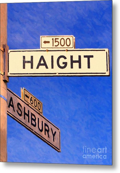 San Francisco Haight Ashbury Metal Print by Wingsdomain Art and Photography