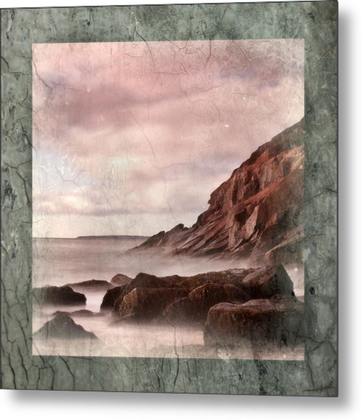 Sand Beach In Texture Metal Print by Don Powers