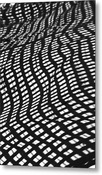 Sand Checkers Metal Print