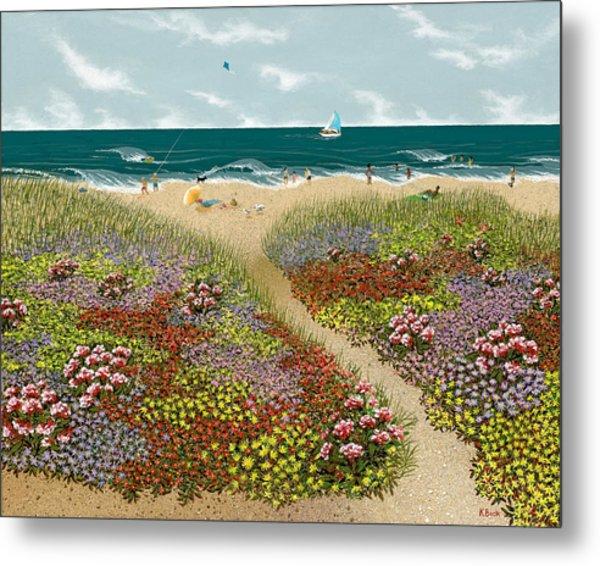 Sand Path Metal Print