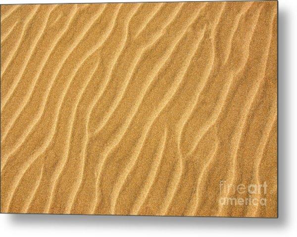 Sand Ripples Abstract Metal Print