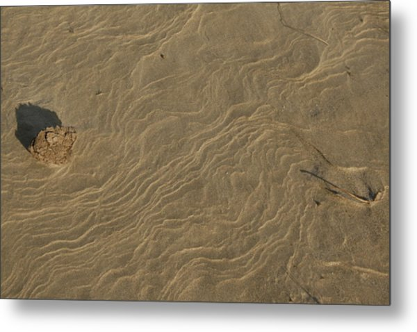 Sand Sculpture Metal Print