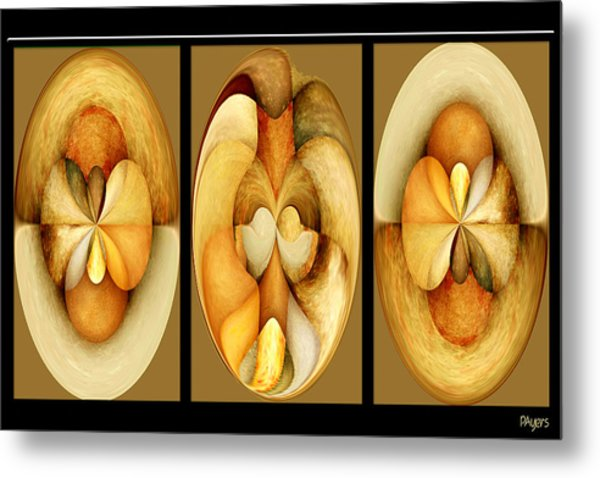 Sanded Woods Triptych Light Metal Print