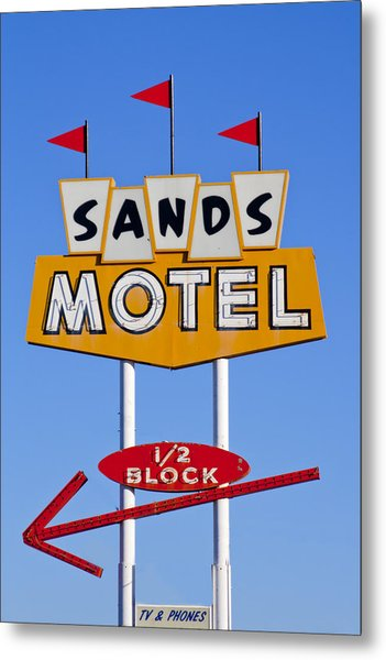 Sands Motel Metal Print
