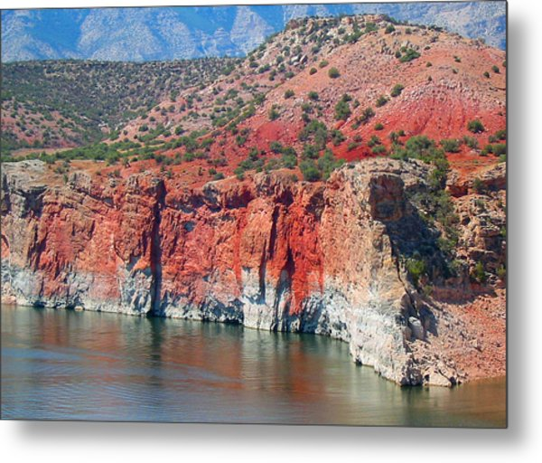 Sandstone And The Sea Metal Print