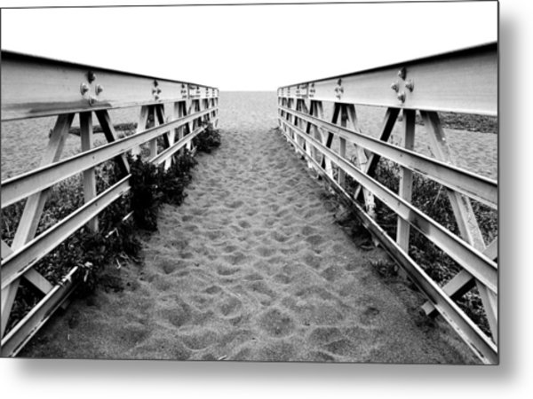 Sandy Bridge - Black And White Metal Print