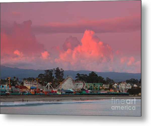 Santa Cruz Beach Boardwalk Metal Print