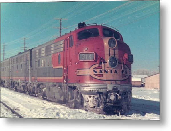 Santa Fe A And B Units At Gallup New Mexico Metal Print